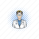 comics, doctor, health, hospital, medical, medicine, professional icon