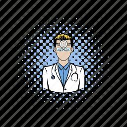 comics, doctor, health, hospital, medical, medicine, professional icon