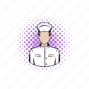 chef, comics, cook, kitchen, male, professional, restaurant icon
