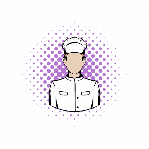 chef, comics, cook, kitchen, male, professional, restaurant icon