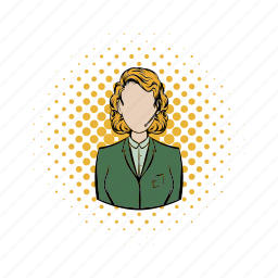 business, call, comics, headset, operator, service, support icon