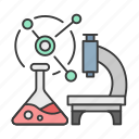 atom, career, chemical, microscope, profession, scientist icon