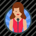 singer, female, microphone, performer, musician, composer