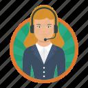 callcenter, girl, agent, female, worker, csr, operator