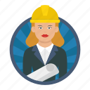 project manager, architecture, female, builder, worker, girl