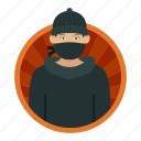 robber, thief, criminal, burglar, gang person, male