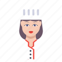 avatar, chef, cook, female, women icon