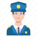 avatar, guard, male, man, police icon