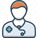 doctor, healthcare, medical, medicine, physician, stethoscope, treatment icon