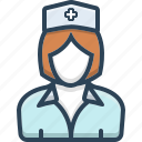 avatar, nurse, sister, user, woman icon