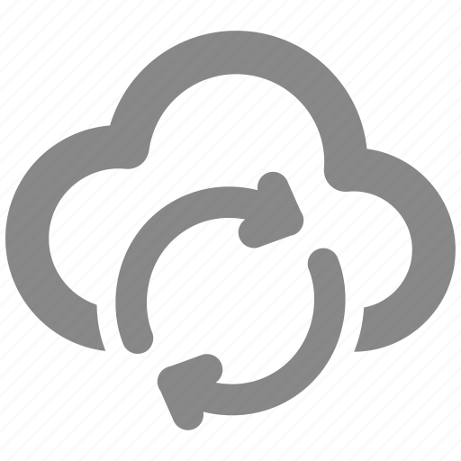 and, backup, cloud, data, restore, server, storage icon