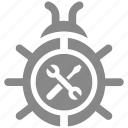 bug, fixing, insect, protect, protection, virus icon