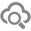 cloud, data, find, graph, search, storage icon
