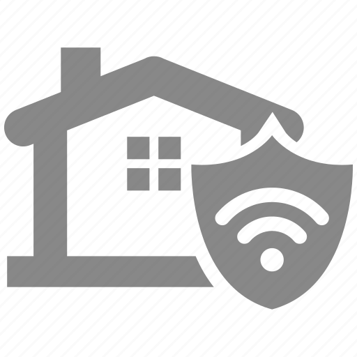 building, connection, home, house, network, protection, security icon