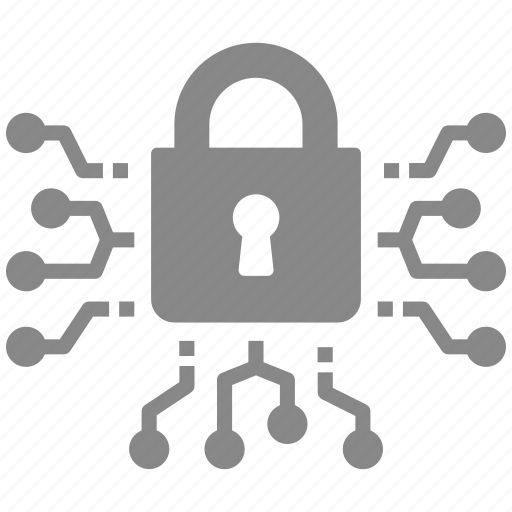 digital, lock, locked, protect, protection, security icon