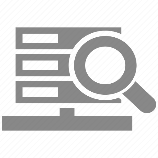 data, database, document, find, search, server, storage icon