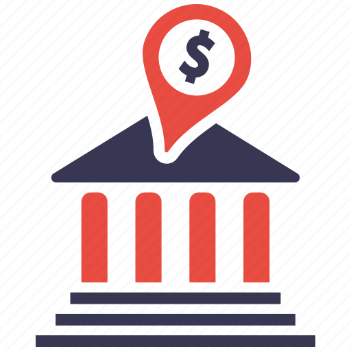 bank, business, business icon, businessman, communication, location icon