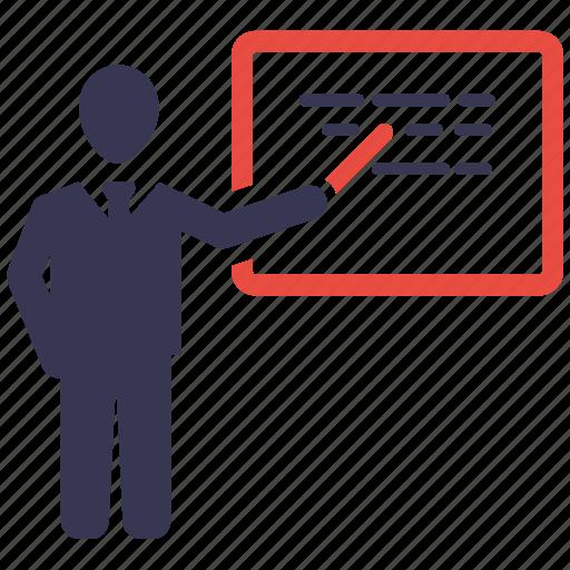business, business icon, businessman, communication, training icon