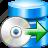 backup, data, database, disk, restore, server, storage icon