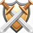 private, protect, protection, safety, secure, security, shield and swords icon