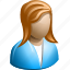 blonde, female, haired, head, people, profile, user icon