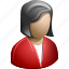 avatar, brunet, brunette, doctor, female, girl, head, hospital, lady, people, physician, profile, red, sexy, user, woman icon