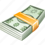 bundle, money, tuft, wad, wrap icon