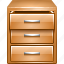 accounts, card index, data, database, document, furniture, storage icon