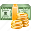 business, cash, dollar, finance, financial, money, payment icon