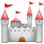 castle, cattle, tower, truck icon