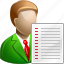 client, list, text icon