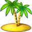 ait, christmas, coco, cocoanut, coconut, cokernut, island, islet, palm, palm branch, palm tree, tree icon