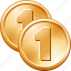 business, buy, cash, cent, coin, coins, dime, dollar, ecommerce, eurocent, gold, gold coins, money, one, price, rich, shopping, simple icon