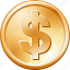 coin, dollar, money icon