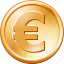 business, cash, euro coin, finance, money, payment, shopping icon