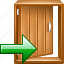 close, delete, door, exit, remove icon