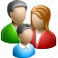 and, family, father, mother, son icon