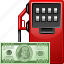 dollar, fuel expences, gas station, gasoline, oil, petrol, transportation icon