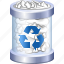 delete, dust bin, empty, full trash, garbage, recycle, remove icon
