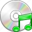 audio, cd disk, itunes, multimedia, music, note, sound icon