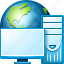 browser, earth, globe, internet, seo, web, world icon