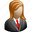 client, female, girl, lady, profile, user, woman icon