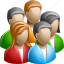 group, large, people, users icon