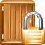 closed, lock door, locked door, protection, safe, secure, security icon