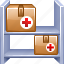 company, drug storage, logistic, medical store, shipping, transportation, warehouse icon