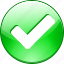 accept, allow, check, excellent, good, green, mark, ok, round, success, tick, valid, yes icon
