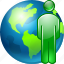 communication, contact, globe, meeting, online contacts, people, web icon