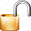 lock, open, secure icon