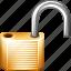 lock, open, secure icon