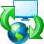 browser, internet, pc, sync, synchronization, web, web-pc synchronization icon